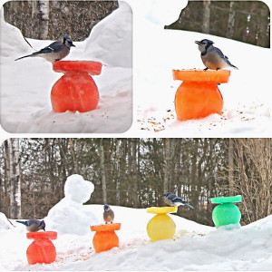 Stand-Out Ice Bird Feeders