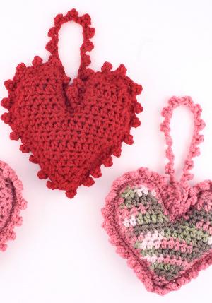 Crochet Heart Sachets