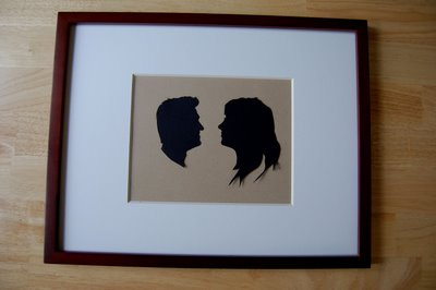 Custom COuple Silhouette- Framing 3