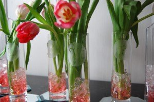 Etched Vase Centerpiece