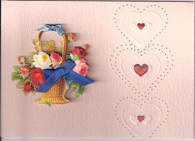 Hearts and Bouquet Card