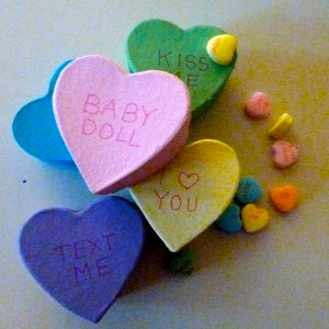 Mini Conversation Heart Gift Boxes