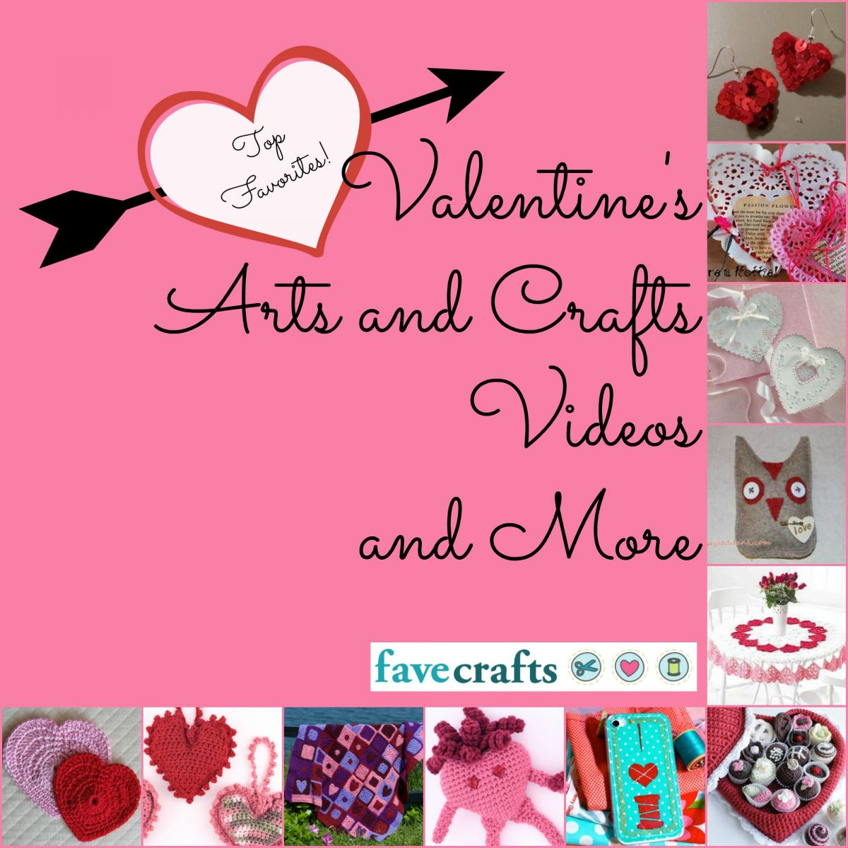 Top Valentine's Arts and Crafts, Videos, and More