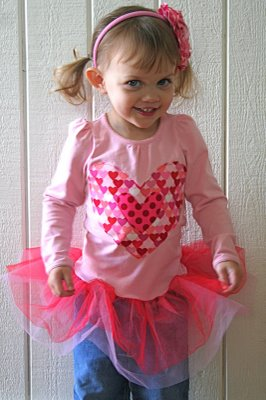 Tutu Shirt for Valentine's Day
