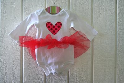 Tutu Onesie for Valentine's Day