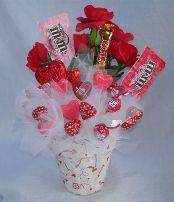 Valentine Candy Bouquet Ideas 14 | Valentines day baskets ... |Valentines Cotton Candy Bouquet Ideas