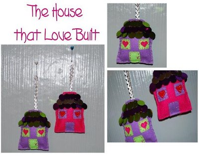 Valentine House Ornaments