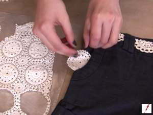 Faux Crochet Doily Shorts
