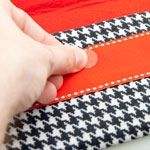 Houndstooth Clutch Purse