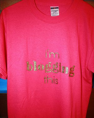 nerdy stenciled tee shirt
