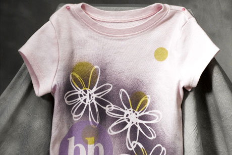Pink Painted Daisy Tee