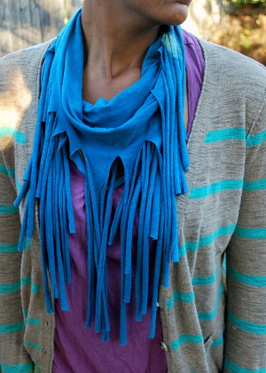 How To Make A Tee Shirt Fringe Scarf Favecrafts Com