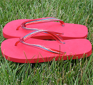 Red Flip Flops Wearable Craft
