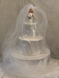 Big Fat Faux Wedding Cake Centerpiece