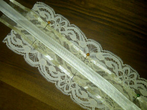 Cream Wedding Garter