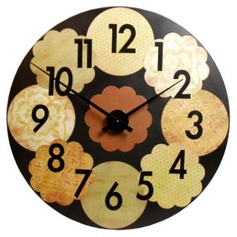 Big Circle Wood Clock
