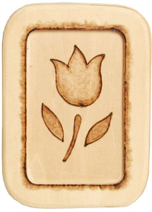 Woodburned Tulip Plaque