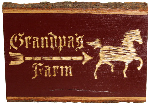 Carved Wood Farm Plaque