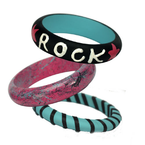 Rock Stair Painted Bangles