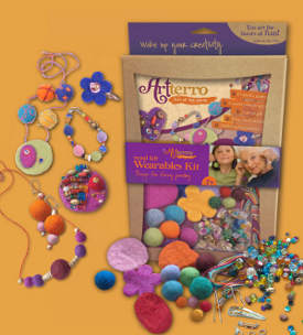 artterro wool felt jewelry kit1 FaveCrafts Giveaway:  Wool Felt Jewelry Kit