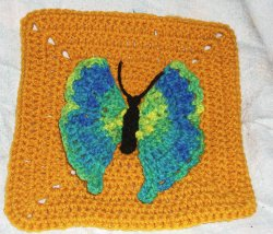 Pretty Butterfly Square