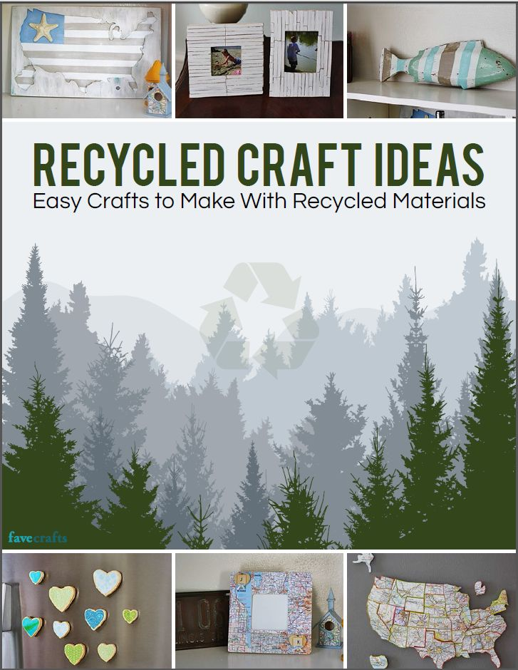 Recycled craft ideas easy crafts to make with recycled for Waste material items