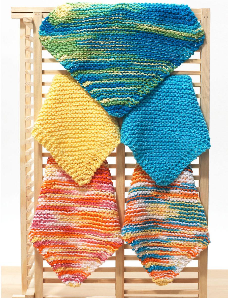 Knitting Dishcloths Pattern For Beginners : Easy Dishcloth Knitting Pattern FaveCrafts.com