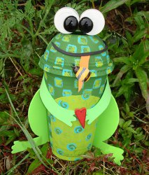 Froggy Bank Recycle Crafts for Kids