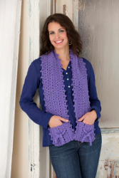 Free Crochet Pattern Pocket Scarf : CROCHET SCARF WITH HAND POCKETS ? Only New Crochet Patterns