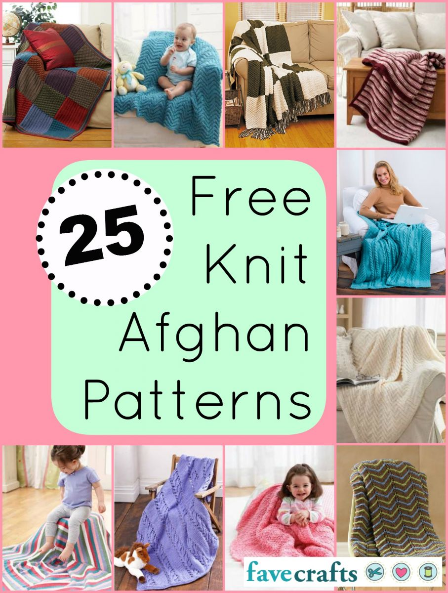 25 Free Knit Afghan Patterns