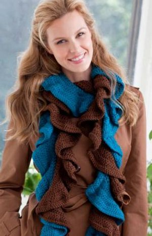 Free Knitting Pattern for a Ripple Stitch Scarf