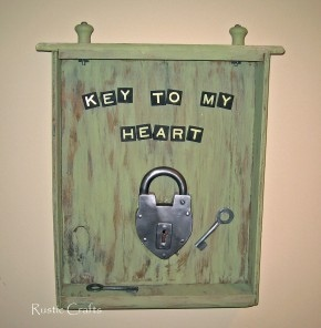 Vintage Key to My Heart Art